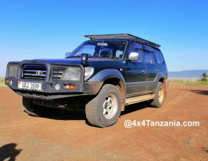 Toyota Prado, with Pop-up Roof for self-drive in Tanzania