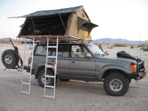 Family Roof top tent in Tanzania