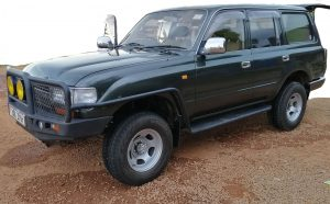 Land Cruiser V8 for hire in Arusha