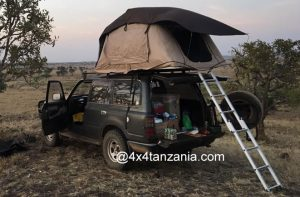 Rooftop Tent Comping in Tanzania